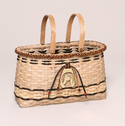 small horse lovers tote basket